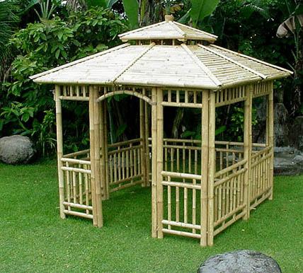 Bambus Garten Pavillon